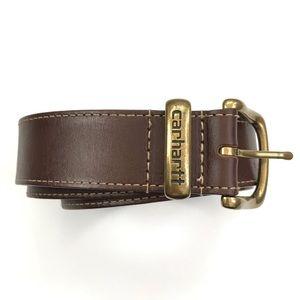 Carhartt Men's Brown Genuine Leather Belt